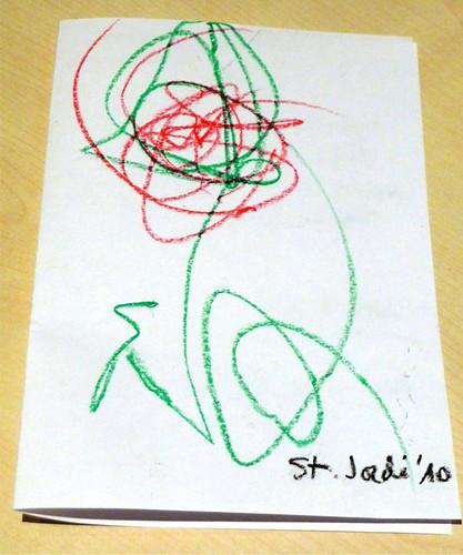 Dibuix de la Rosa de Sant Jordi