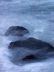 blue stones - 2004 (fotowelle) Tags: blue beach nature water stone waves stones balticsea langzeitbelichtung seascap waterscpae