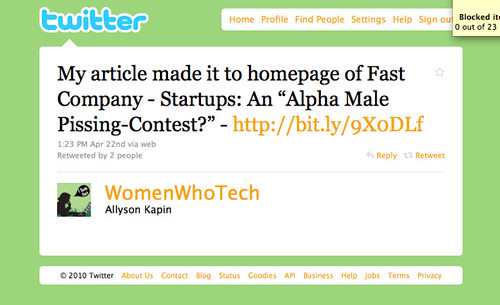 Startups: an alpha male pissing contest?