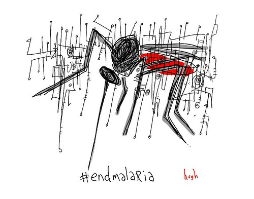 #endmalaria by @gapingvoid, in honor of World Malaria Day 2010
