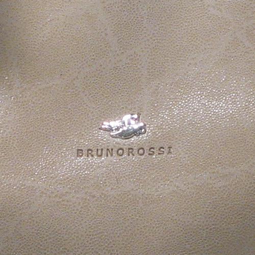 2. Bruno Rossi Italian Leather Designer Handbag Detail - Beige