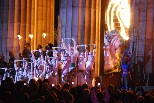 Beltane Fire Festival 2010 - Edinburgh - May Queen and White Women by Martin Robertson.