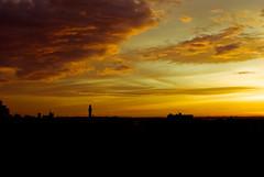 Every cloud has a golden lining (On the mountain at dawn) Tags: light sunset sky sun mountain contrast manchester dawn golden nikon view circular cliche polariser d3000