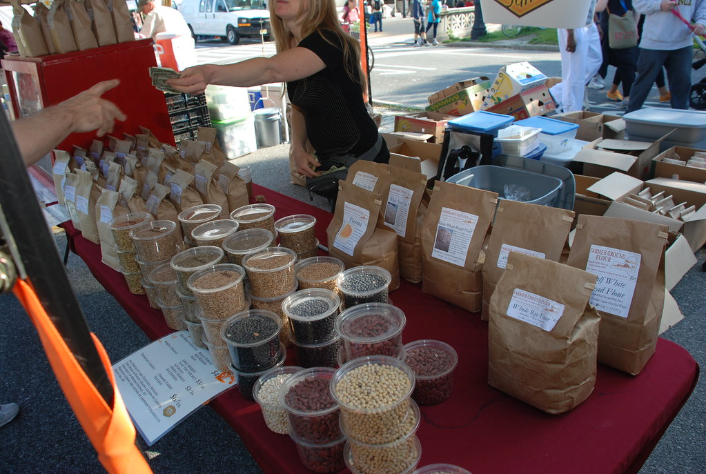 Cayuga Organics grains at Prospect Park Farmers' Market
