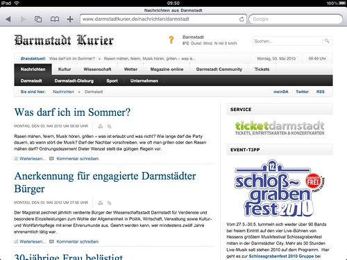 Darmstadt Kurier on iPad