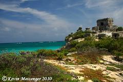 Tulum ruins (Kevin Messenger) Tags: slr digital canon mexico eos rebel xt ruins kevin pyramid wildlife yucatan tulum mayan 7d messenger dslr peninsula roo quintana xti 40d 60d kevinmessenger