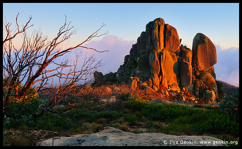 The Cathedral at Sunrise, Mount Buffalo National Park, Australian Alps, Victoria, Australia