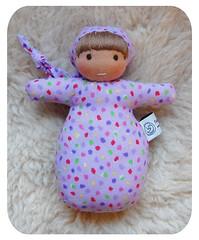 purple-confetti (Polar Bear Creations Dolls) Tags: infant natural waldorf babytoy waldorfdoll pocketbaby steinerdoll minibaby