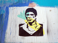 Say Hello To My Little Friend (Reid Harris Cooper) Tags: wood streetart philadelphia movie graffiti stencil character pa actor philly scarface alpacino pacino