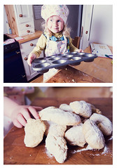 Martha has decided that she is going to work as a biscuit maker,I already have her bags packed and ready to go (zoehd) Tags: baking lemon diptych day very jumbles moreish familygetty2010 grubbyjumbles
