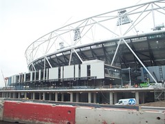 Olympic Stadium (Andy Wilkes) Tags: london andy river site construction view stadium centre tube may andrew arena lea inside olympic build handball velodrome 2012 2010 wilkes aquatics londonist marshgate insidelondon2012