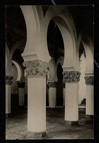 Sinagoga de Santa María la Blanca a comienzos del siglo XX. Foto González Nieto