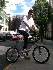 handmade mini velo (jimn) Tags: bicycle brooklyn self diy framebuilding unpainted minivelo