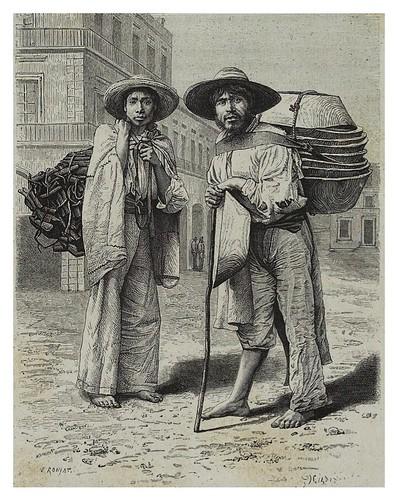 003-Vendedores de carbon y bateas en Mexico-Les Anciennes Villes du nouveau monde-1885- Désiré Charnay