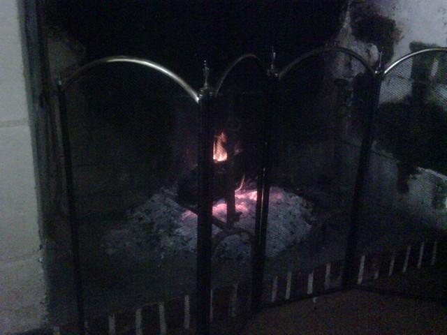 1236- WE à la campagne au coin du feu ...