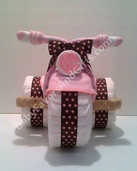 Tricycle Diaper Cake (BabyFavorsAndGifts) Tags: cake tricycle diaper