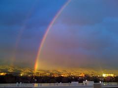 doble arco iris sobre la cuidad desnuda (Antonio (Poptun)) Tags: foothills arcoiris rainbow idaho boise doublerainbow doblearcoiris