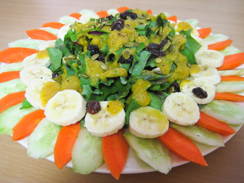 Polynesian Salads with Curry Dressing