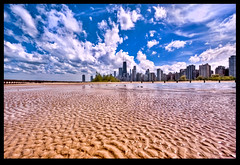 Low Tide (IC360) Tags: city chicago beach sand wideangle ripples blueskies northavebeach platinumphoto
