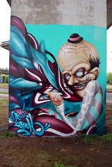 the whole wall (mrzero) Tags: street urban streetart art effects graffiti character poland colored jam eco zero szczecin cfs mrzero