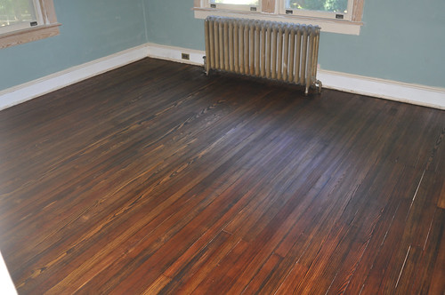 Stained Floors without finish