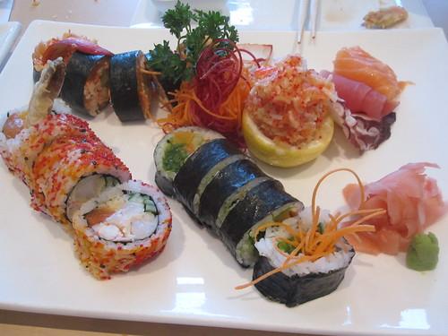 Sushi feat at Mikasa