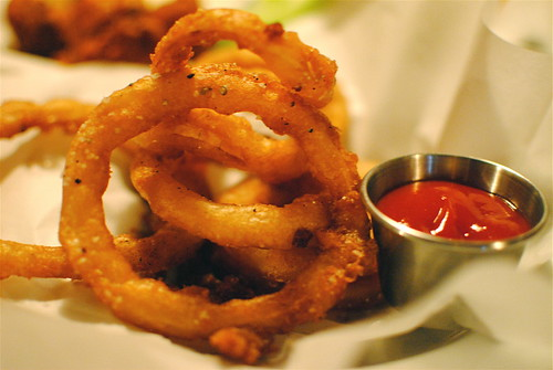 stout battered onion rings