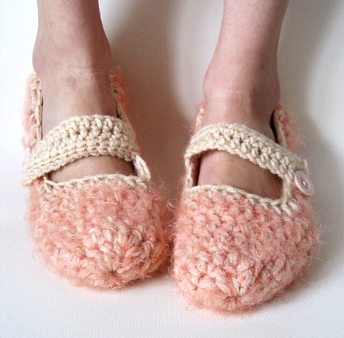 Peaches'n'Cream Mary Jane Slippers
