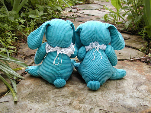 turquoise bunny - tails