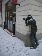 the camera man (margettina) Tags: art architecture slovakia bratislava