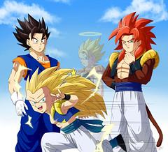 DBZ Fusions (Luke = That Honest Guy ) Tags: ball dragon kamehameha z trunks gt fusion fusions goku vegeta gogeta goten gotenks dbz ss4 vegeto