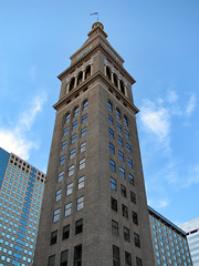 Daniels & Fisher Tower in Denver, Colorado (*Checco*) Tags: city windows sky usa building tower architecture america high df colorado downtown united unitedstatesofamerica denver fisher daniels tall shutterstock 5photosaday danielsfishertower