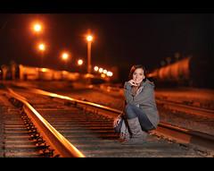 Megan ~ Twilight Railroad Senior (~Phamster~) Tags: railroad cactus senior night canon twilight strobist phamster