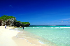 (( _`) Sho) Tags: blue sea summer beach japan island sand paradise  okinawa   miyako        sunayama