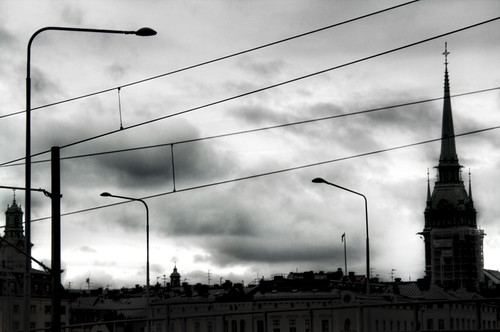 Cables over Stockholm. Cables sobre Estocolmo