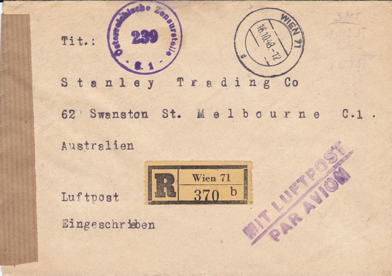 Zensurierte Bedarfspost nach Australien 4655722728_d25244c846_b