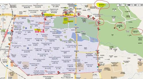 奈良循環巴士地圖
