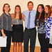UC Davis Women's Varsity II Volleyball Team: Monica Erezo, Marissa Hartley, Stephanie Lage, Coach Mike Wikstrom, Celeste Casita, Audra Krake, Paulina Martinez.