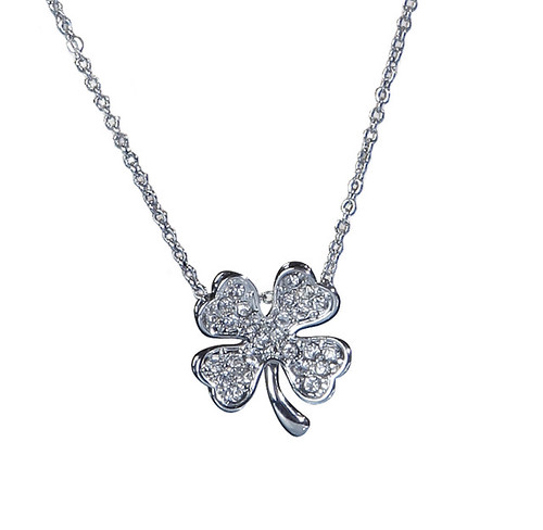 Patricia Field for Payless Four-Leaf Clover Charm necklace