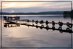 sunset's reflection (aneczka :)) Tags: sunset usa reflection wisconsin lakewisconsin