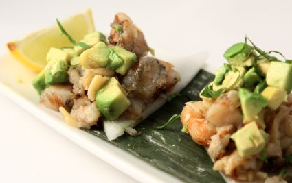 Red O - Shrimp Tostadita