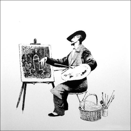 Banksy streetartist
