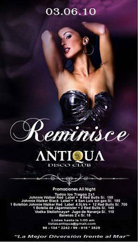 Reminisce Party - Antiqua Disco Club
