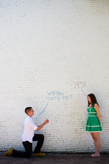 Claire + Justin III (Serena Jae // Love by Serena) Tags: brick love wall chalk engagement couple proposal