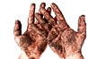 153/365 - Digging in the dirt (Micah Taylor) Tags: white self garden high hands key background fingers explore dirt messy thumb digits dig 487 project365