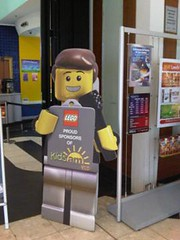 Spotted in Leeds, UK - Lego display produced with X-Board Print!