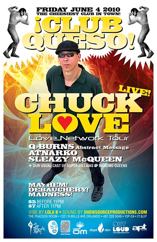 Chuck Love at ¡Club Queso! at The Peacock Room, Orlando : Friday, June 4