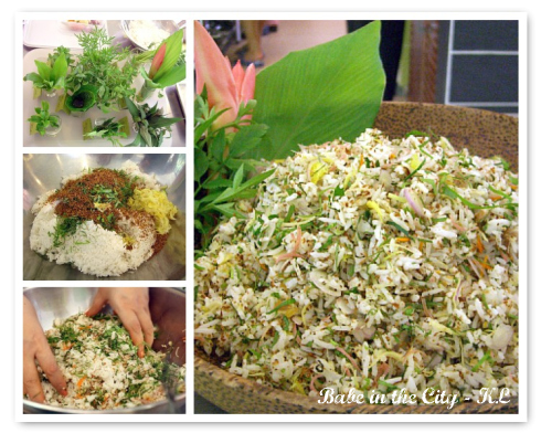 Nasi Kerabu collage