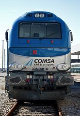 Locomotiva 335.001, Estao do Entroncamento, 2008.12.20 (nmorao) Tags: ent entroncamento vossloh comsa comsarailtransport linhadonorte europeanbulls lusocarris terminalintermodal 335001 portugalferrovirio2 transportesxxi linhadabeirabaixa comboiosorg locomotiva335