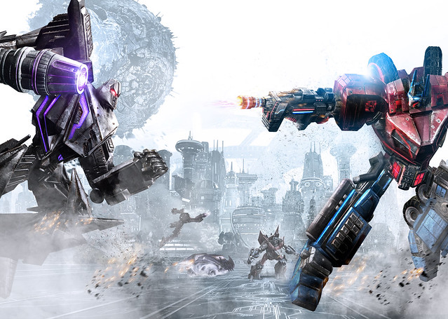 Screenshot Transformers War for Cybertron Optimus Prime versus Megatron